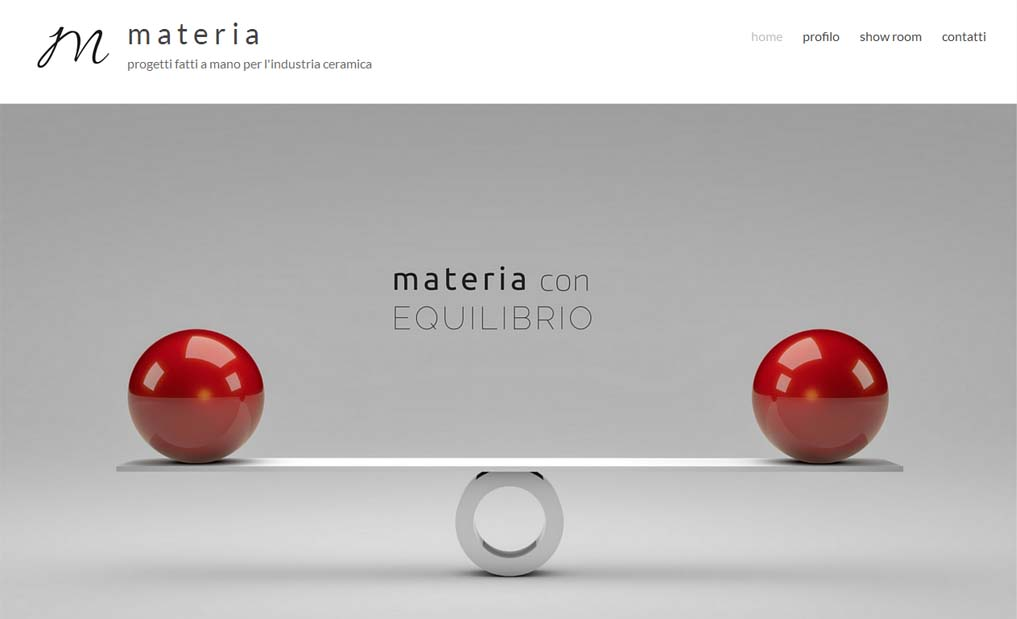 home page materia